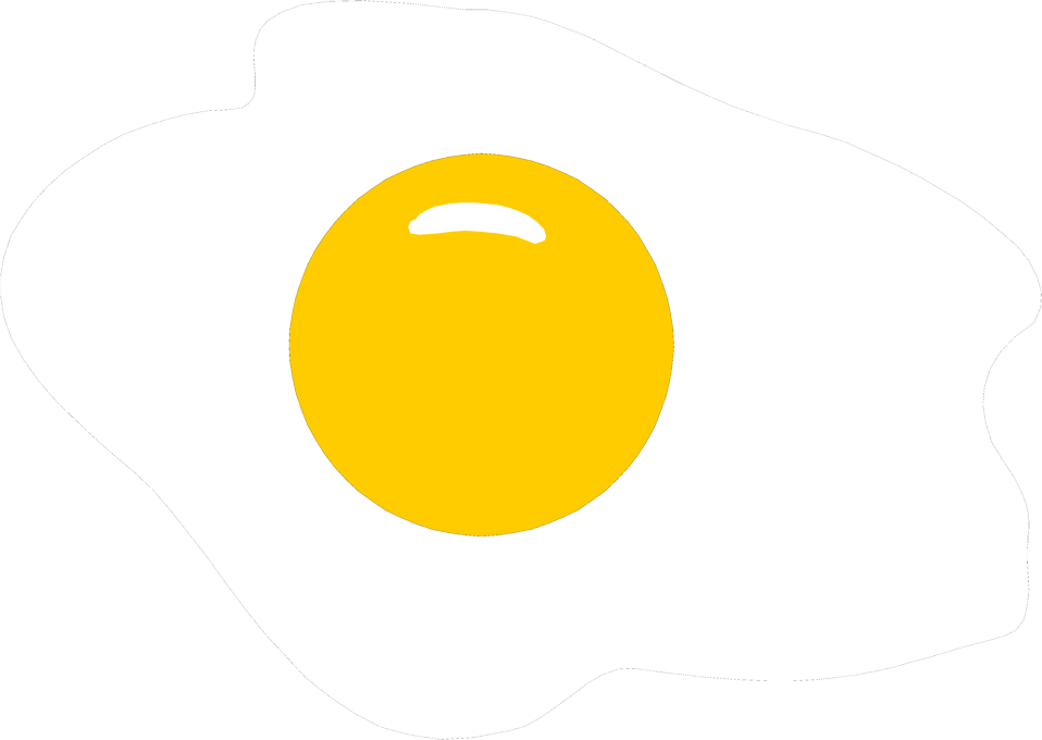 Illustration of an egg cooked sunny side up : Free Stock Photo