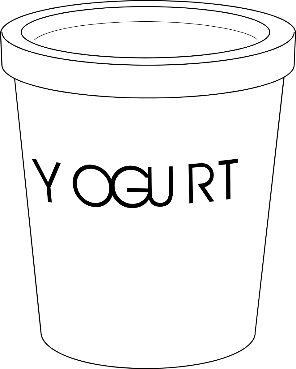 Illustration of a yogurt container : Free Stock Photo