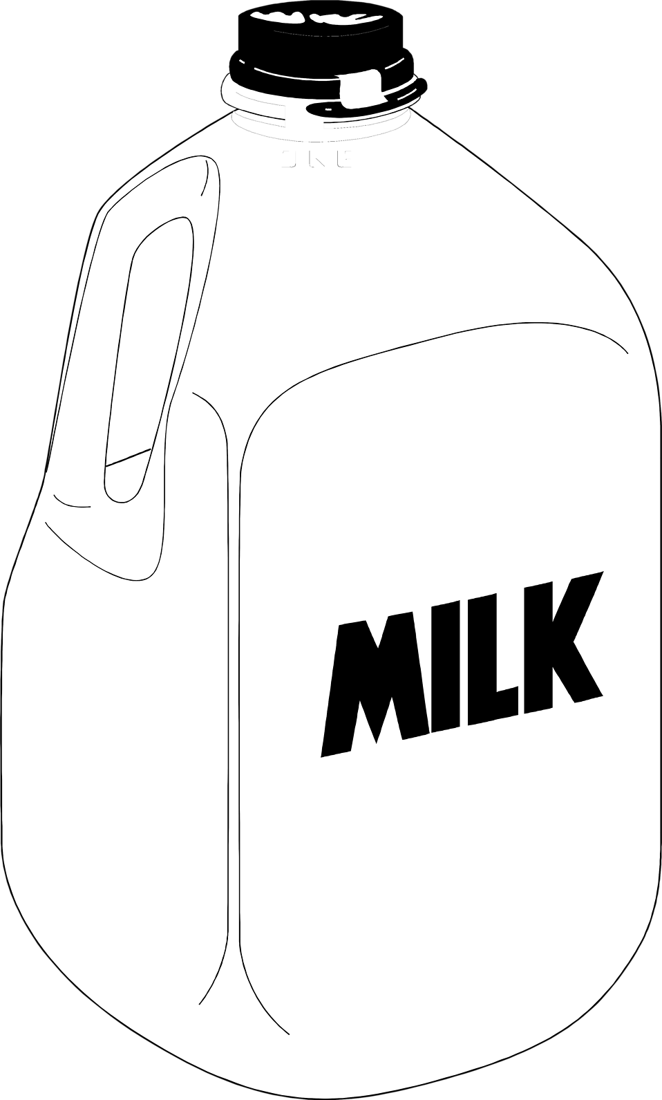 Illustration of a plastic gallon jug of milk : Free Stock Photo