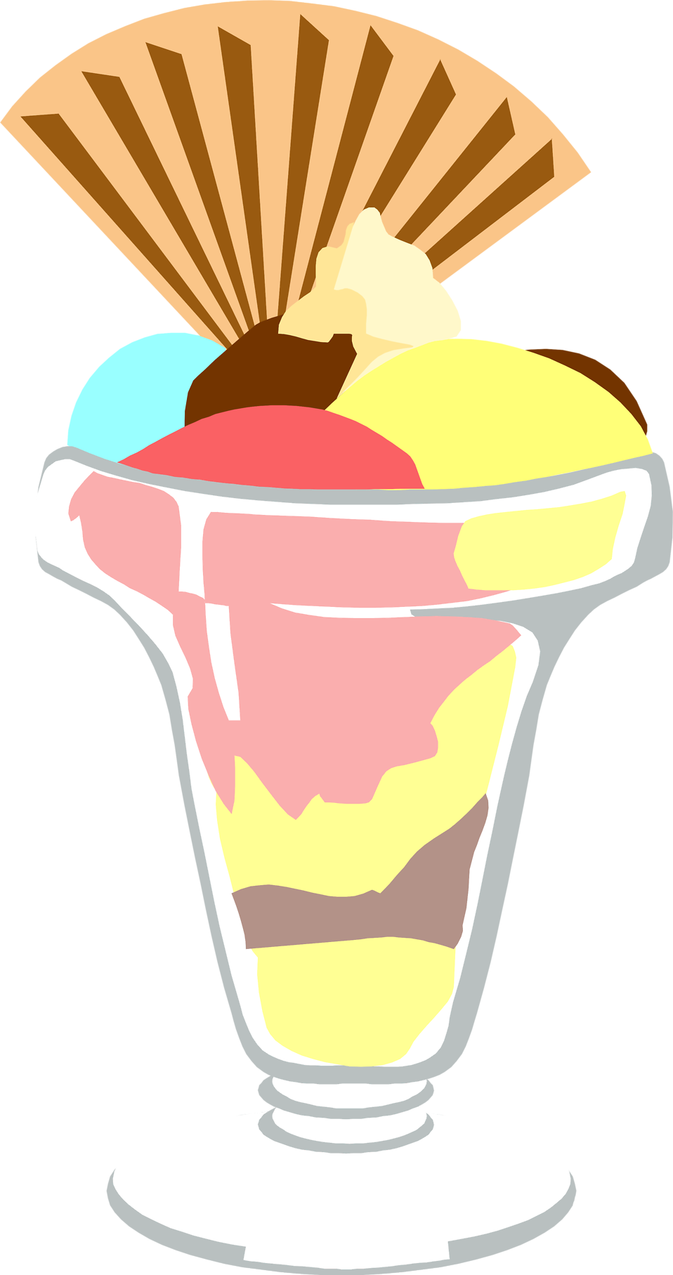 Illustration of an ice cream sundae : Free Stock Photo