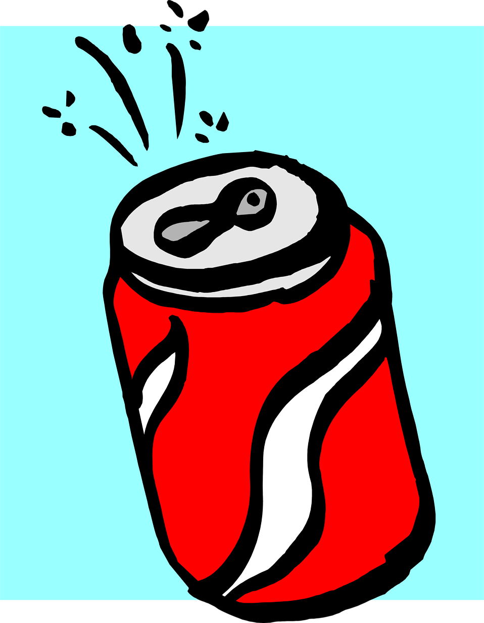 Illustration of a can of soda.