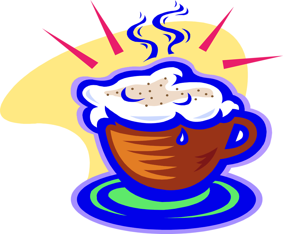 Illustration of a cappuccino : Free Stock Photo