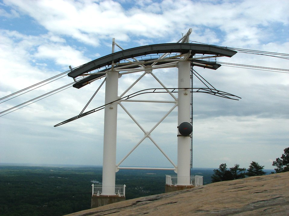 A cable car tower at Stone Mountain in Georgia. : Free Stock Photo