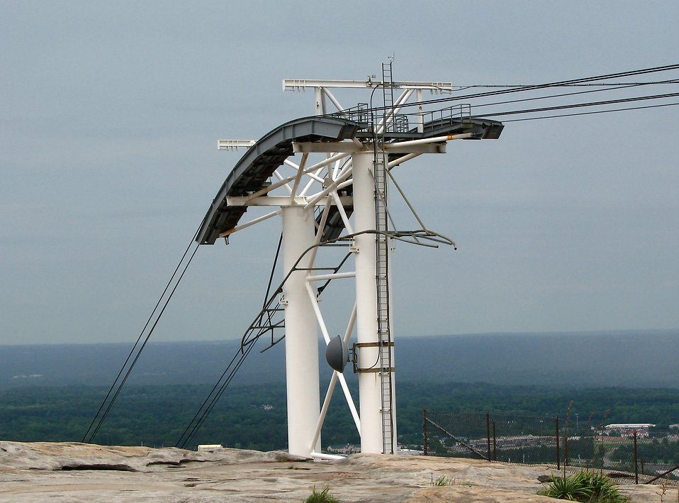 A cable car tower on the top of Stone Mountain in Georgia. : Free Stock Photo