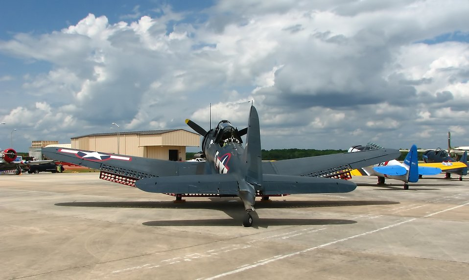 A vintage WW2 airplane at the 2009 Robins AFB Air Show : Free Stock Photo