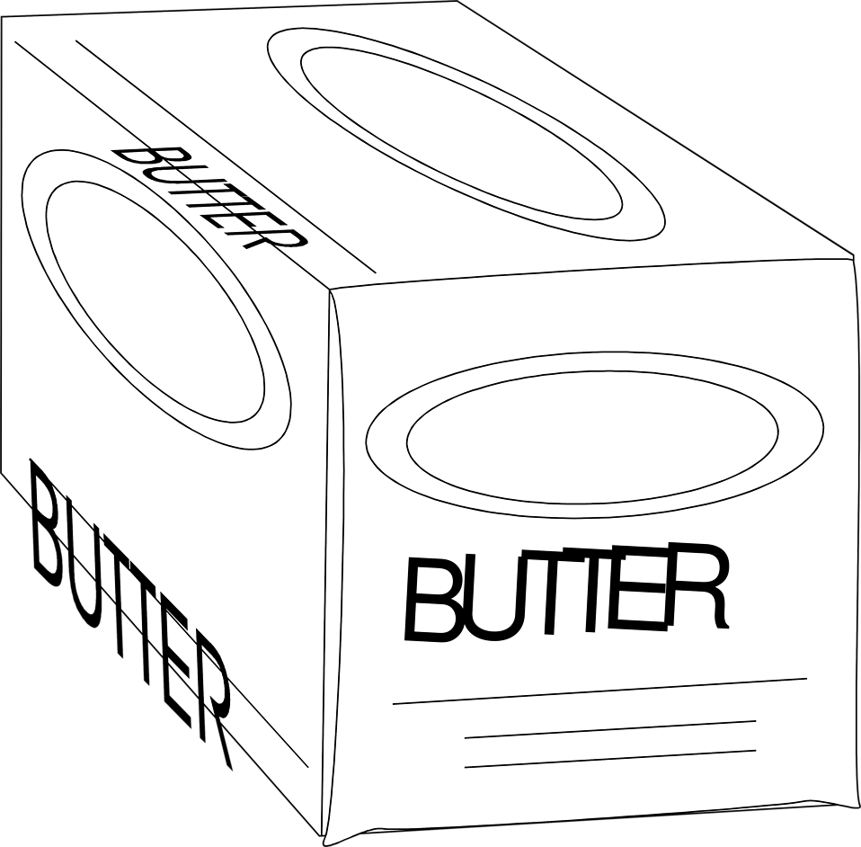 Illustration of a box of butter : Free Stock Photo