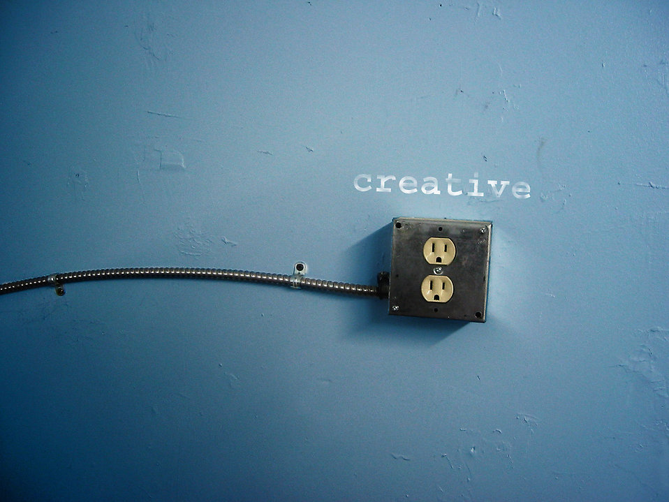 A creative electrical outlet : Free Stock Photo