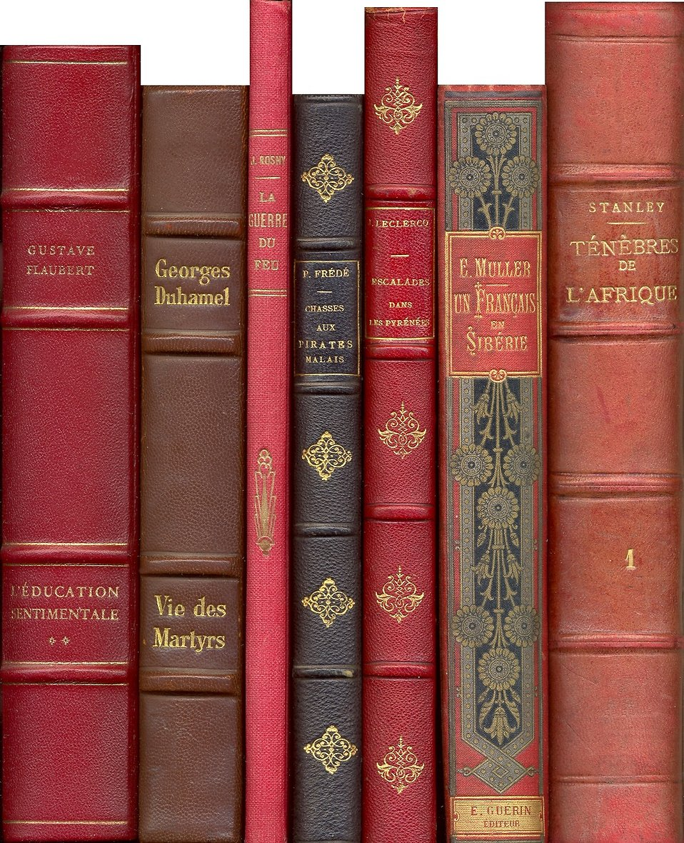 A row of antique books : Free Stock Photo
