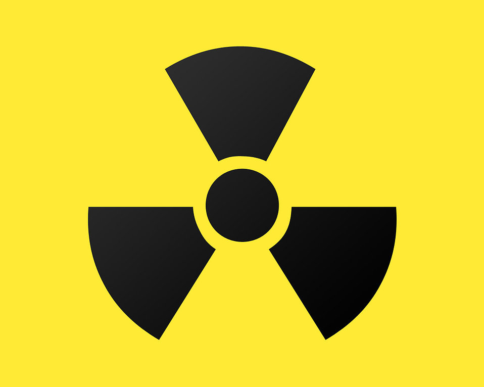 Illustration of a radioactive symbol : Free Stock Photo
