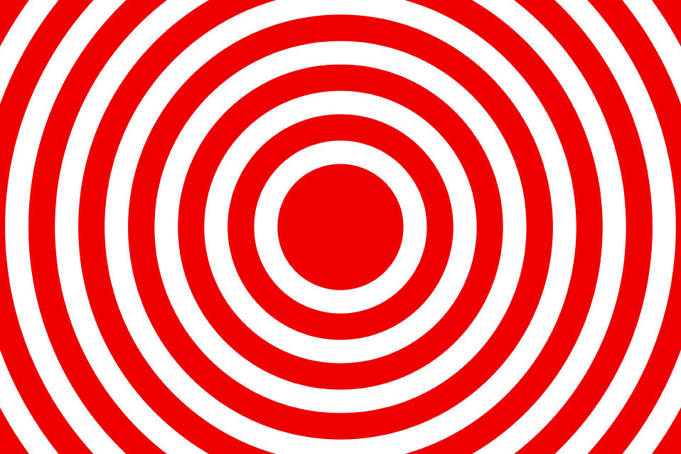 A red and white bullseye design : Free Stock Photo