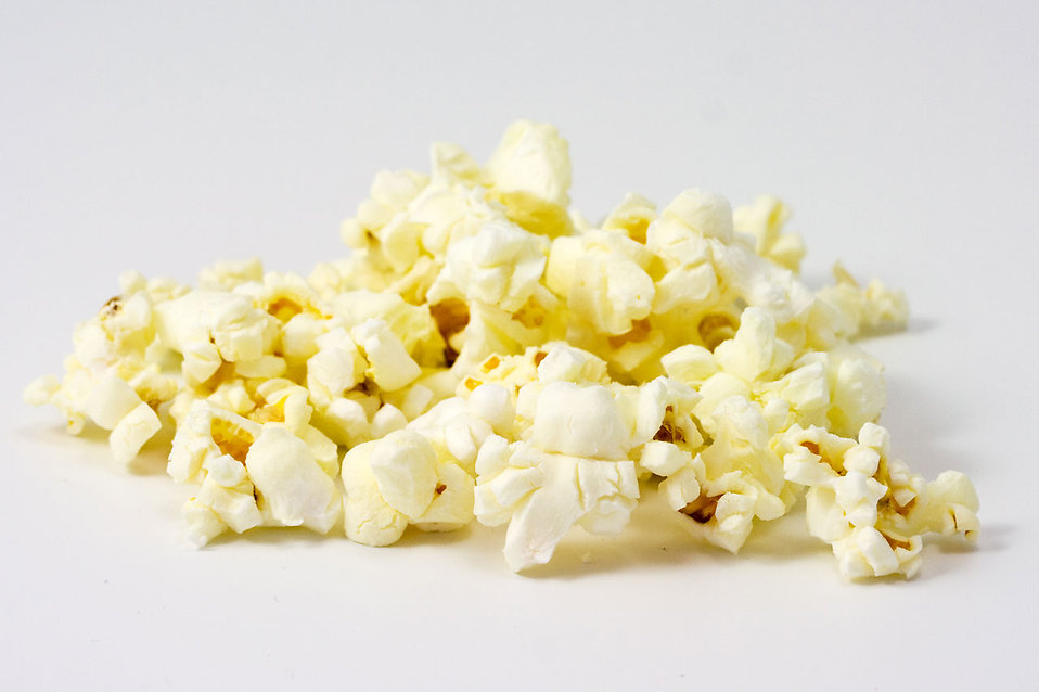 Popcorn isolated on a white background : Free Stock Photo