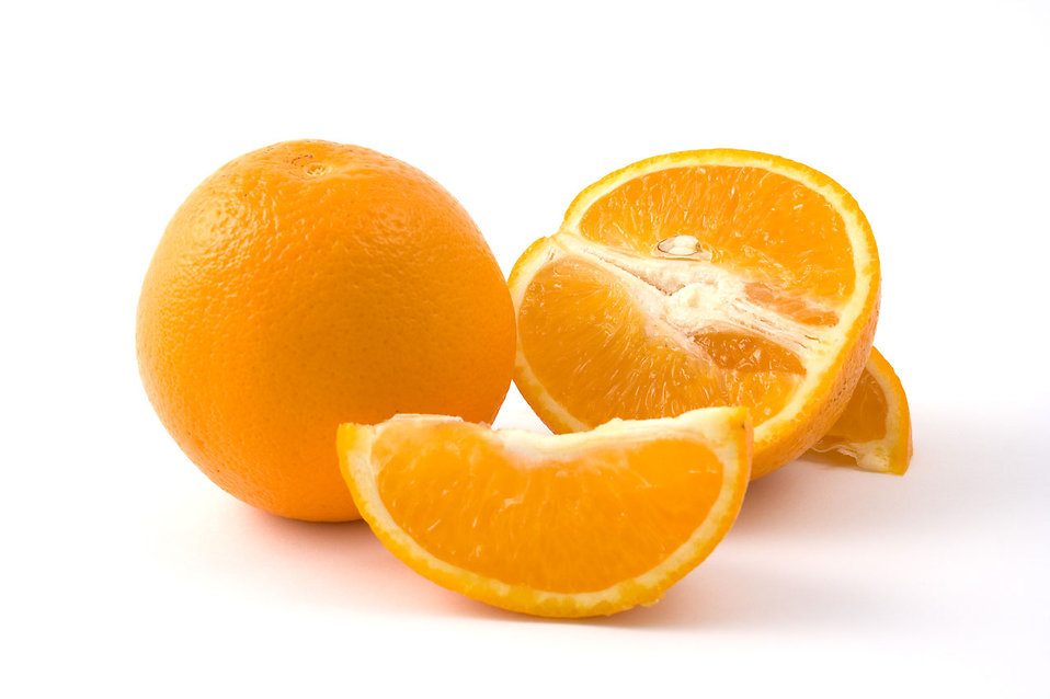 Oranges isolated on a white background : Free Stock Photo