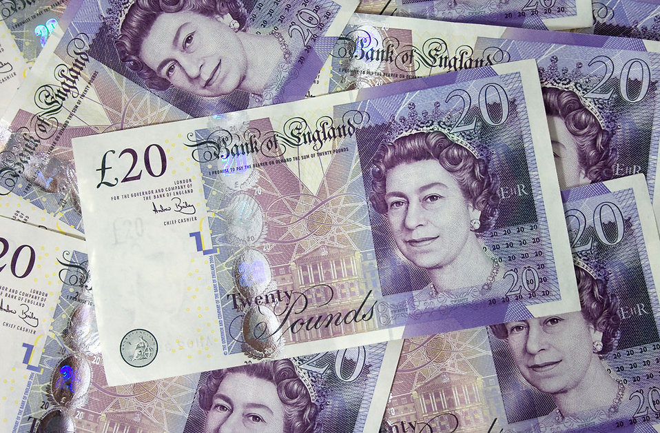 A pile of British bank notes : Free Stock Photo