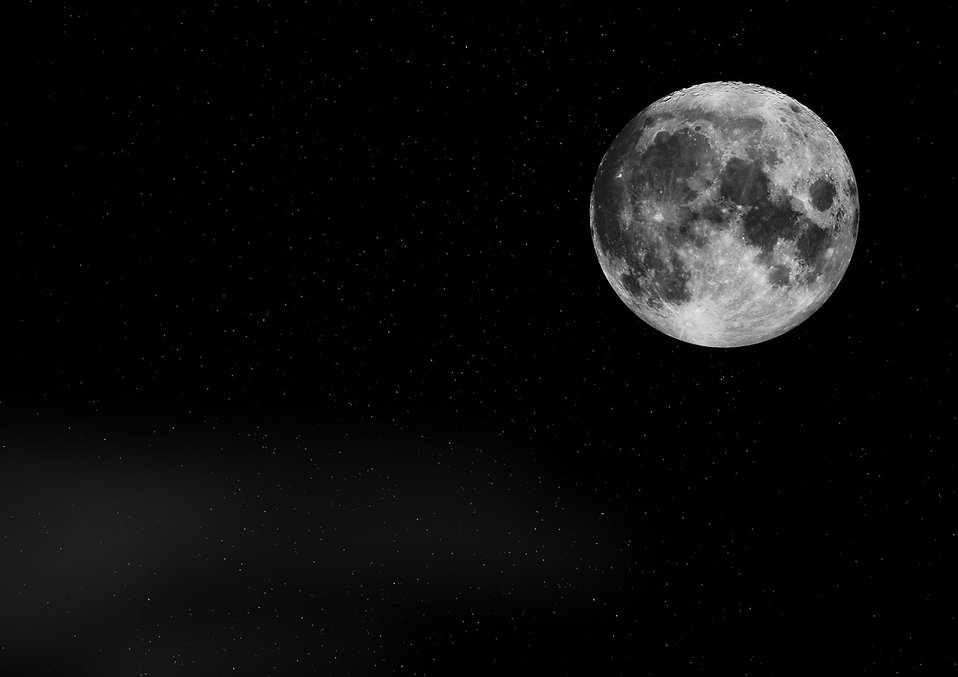 The moon and stars background : Free Stock Photo