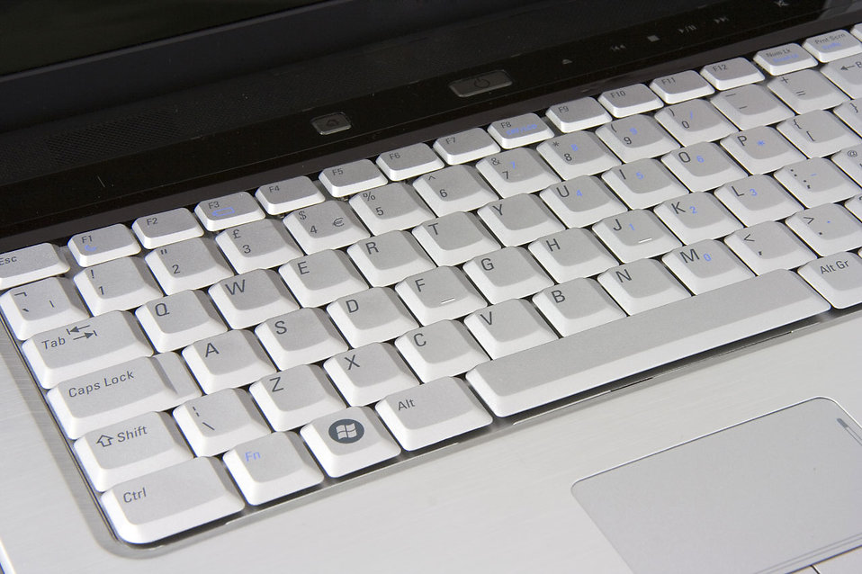 Close-up of a laptop keyboard : Free Stock Photo