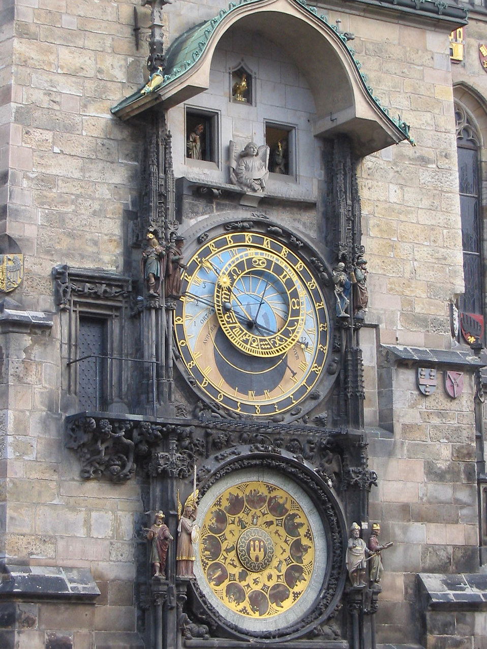Prague Astronomical Clock in the Old Town Square : Free Stock Photo
