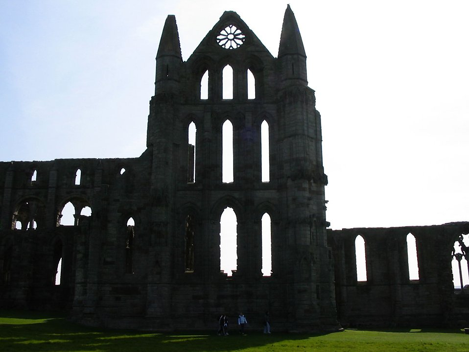 Silhouette of Whitby abbey in North Yorkshire : Free Stock Photo