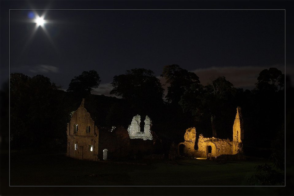 Fountains Abbey at night : Free Stock Photo