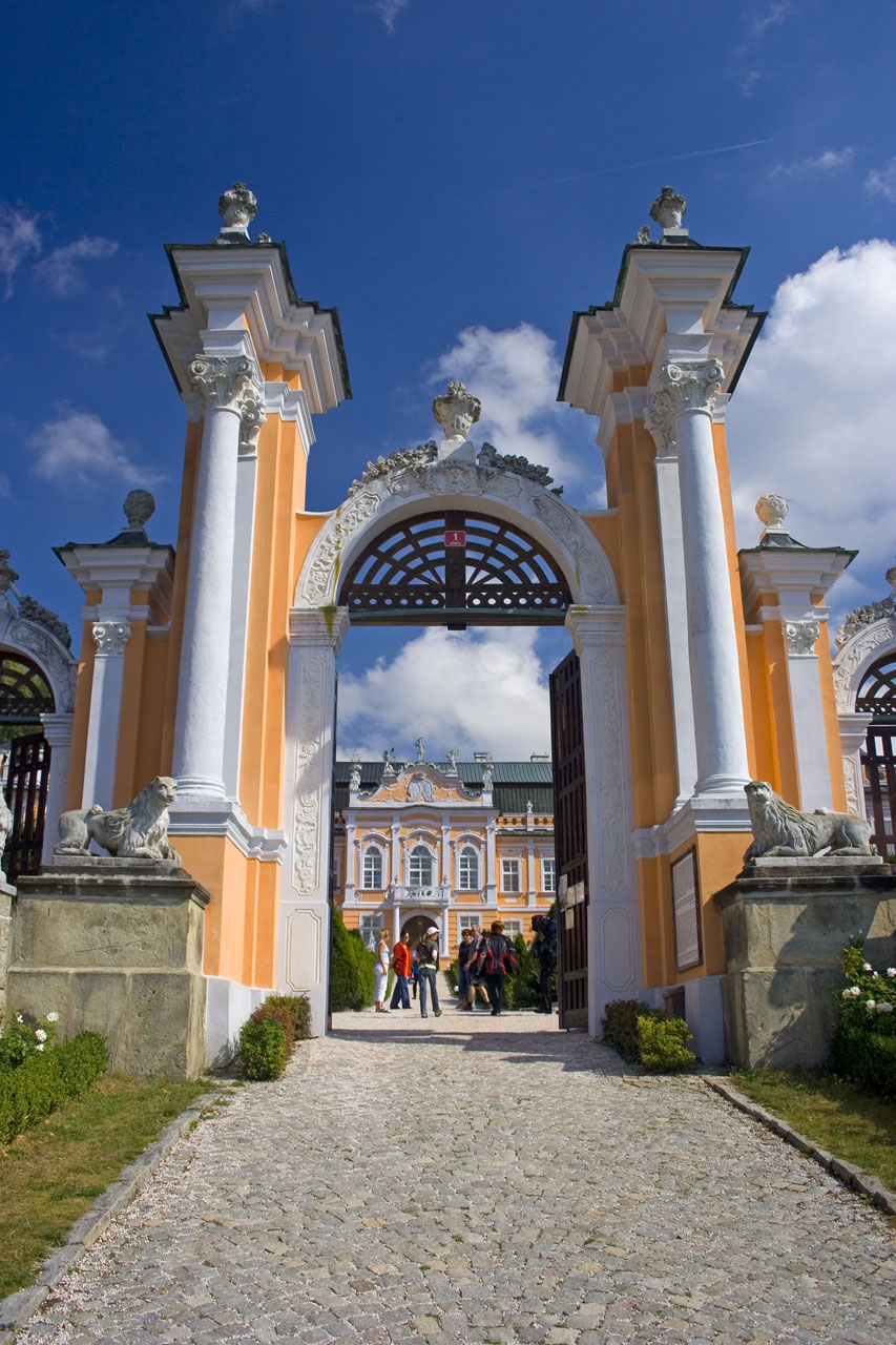 A gate to the castle in Nove Hrady in Bohemia : Free Stock Photo