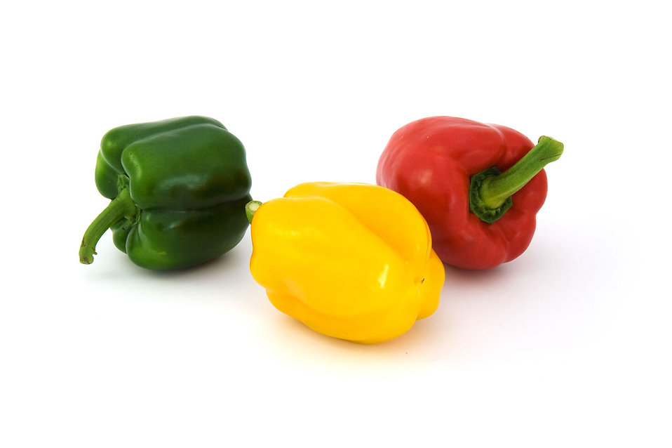 Three peppers isolated on a white background : Free Stock Photo