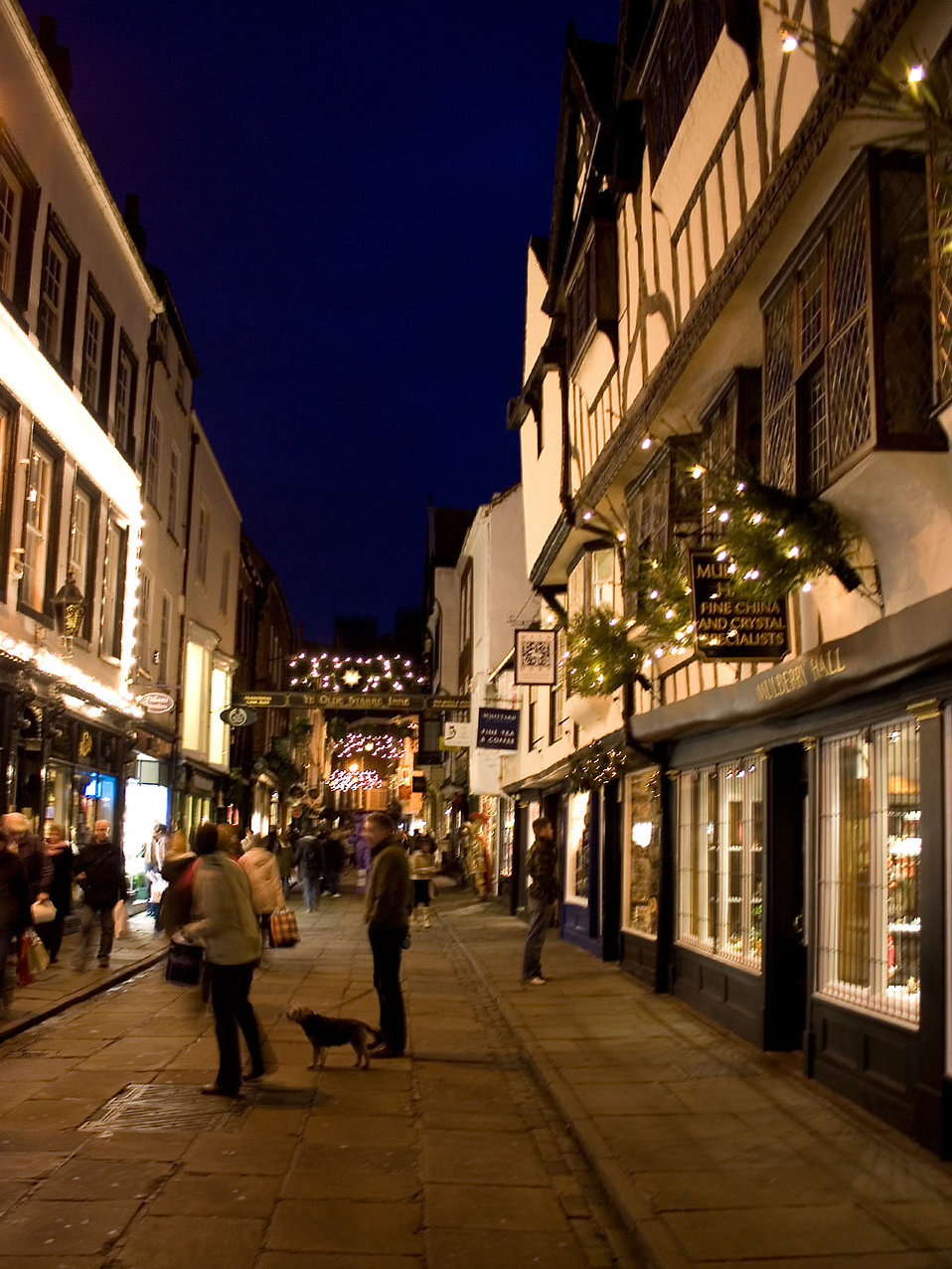 York at night at christmas time : Free Stock Photo