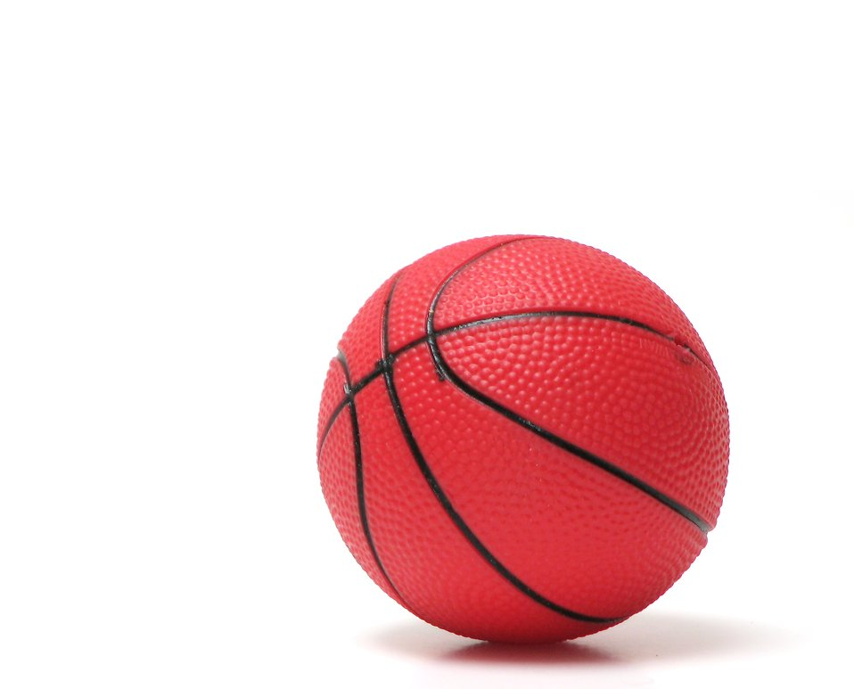 A red basketball isolated on a white background : Free Stock Photo