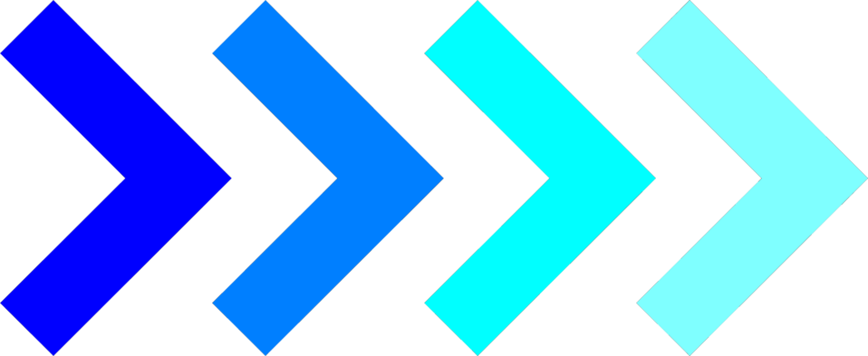 Illustration of right facing blue arrows : Free Stock Photo