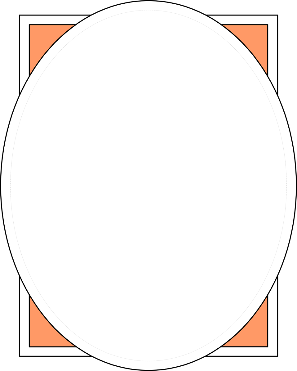 Illustration of a blank oval picture frame : Free Stock Photo