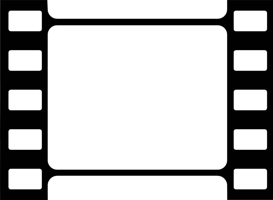 Illustration of a blank filmstrip border.