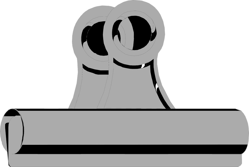 Illustration of a metal clipboard clip : Free Stock Photo