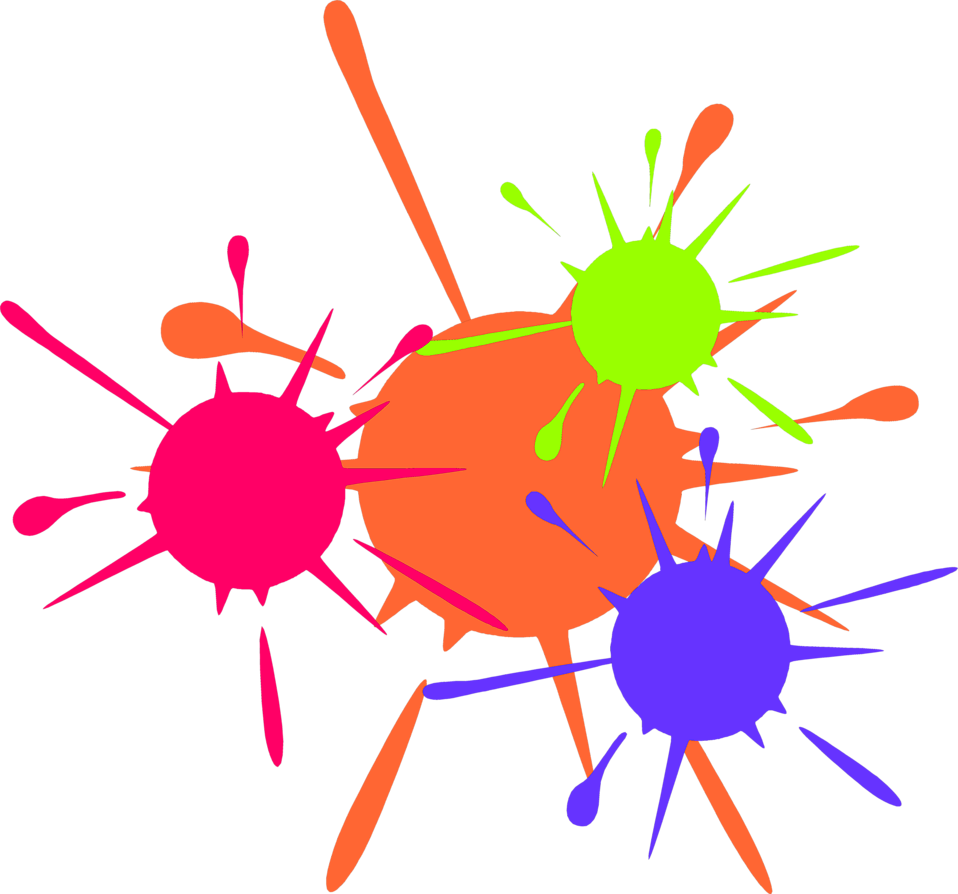 Illustration of paint splatters : Free Stock Photo