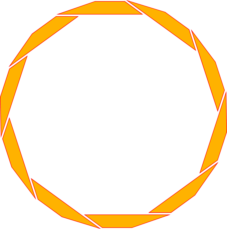 Illustration of a blank orange circular frame : Free Stock Photo