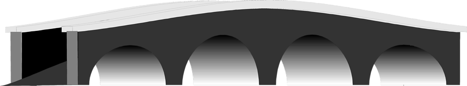 Illustration of a small arched bridge : Free Stock Photo