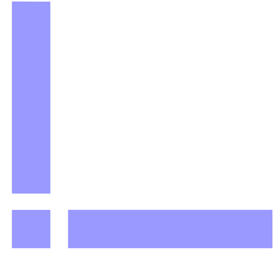 Illustration of a lower left blue and white frame corner : Free Stock Photo