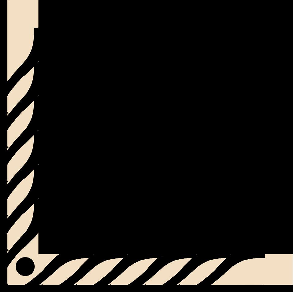 Illustration of a lower left frame corner : Free Stock Photo