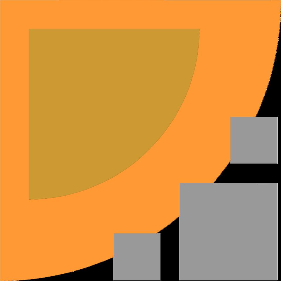 Illustration of an upper left orange frame corner : Free Stock Photo