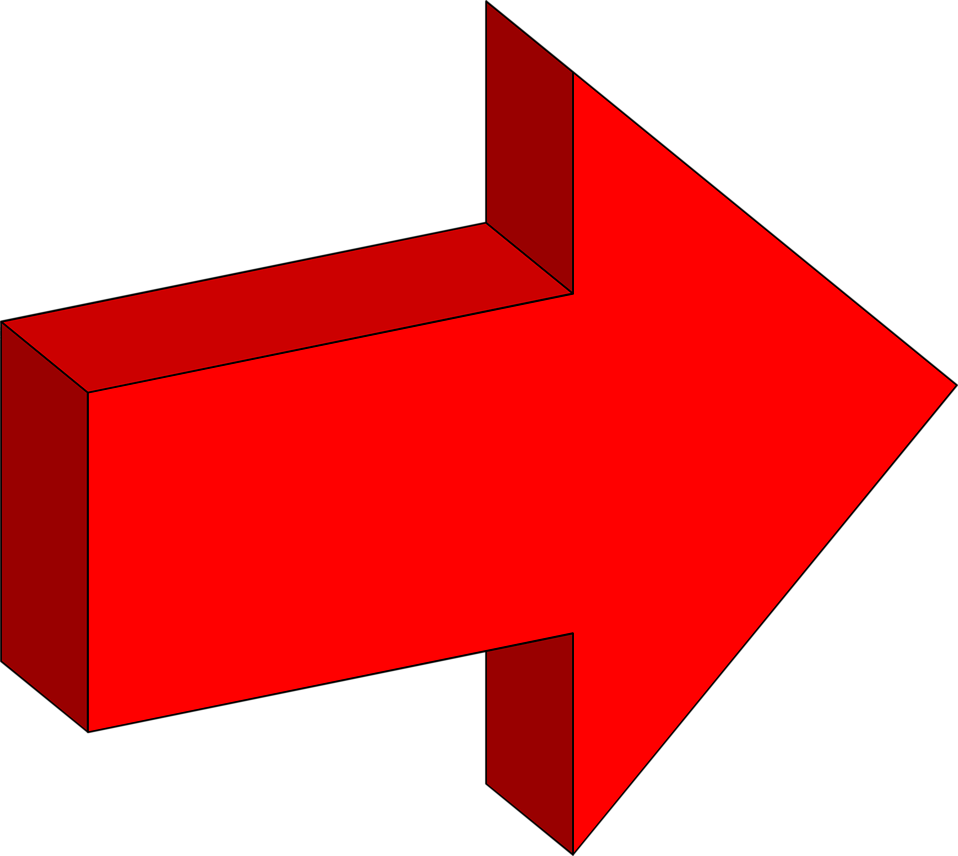 Stock Photo  Illustration of a right facing 3d red arrow   6220