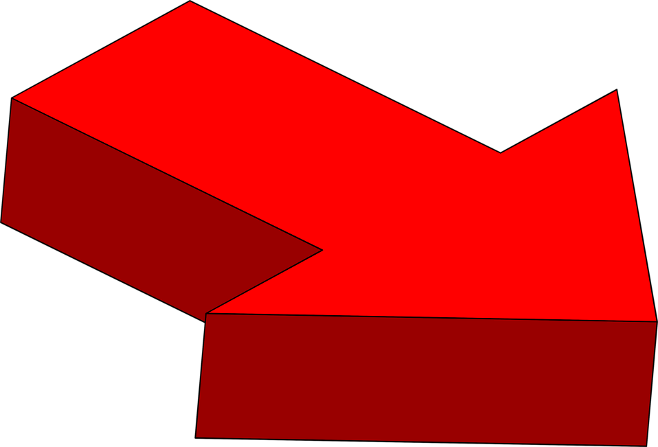 Illustration of a right facing 3d red arrow : Free Stock Photo