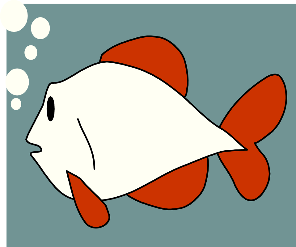 Illustration of a red and white fish : Free Stock Photo