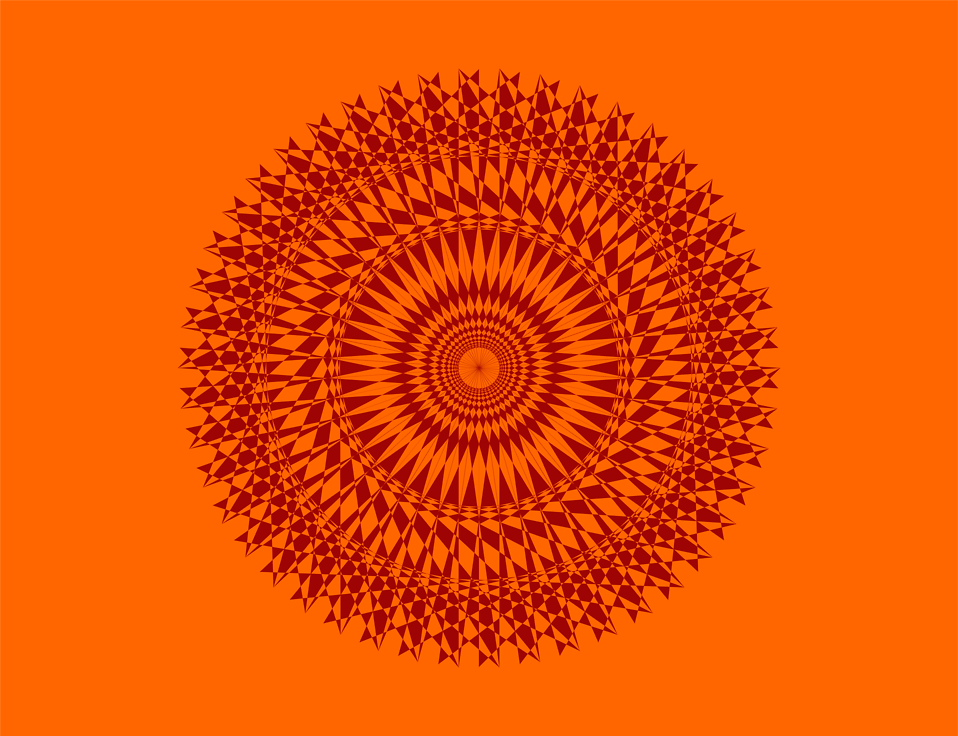 Illustration of a red circle shape on an orange background : Free Stock Photo