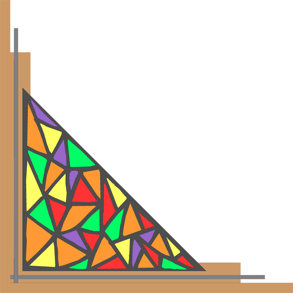 Illustration of a lower left stained glass frame corner : Free Stock Photo