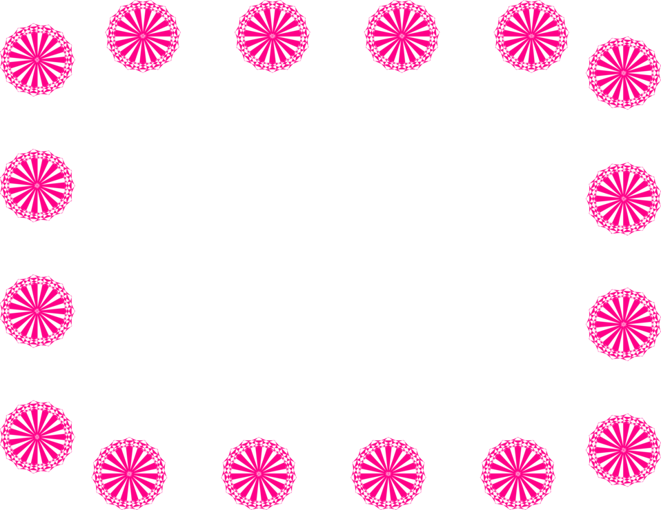 Illustration of a blank frame border of pink circle shapes : Free Stock Photo