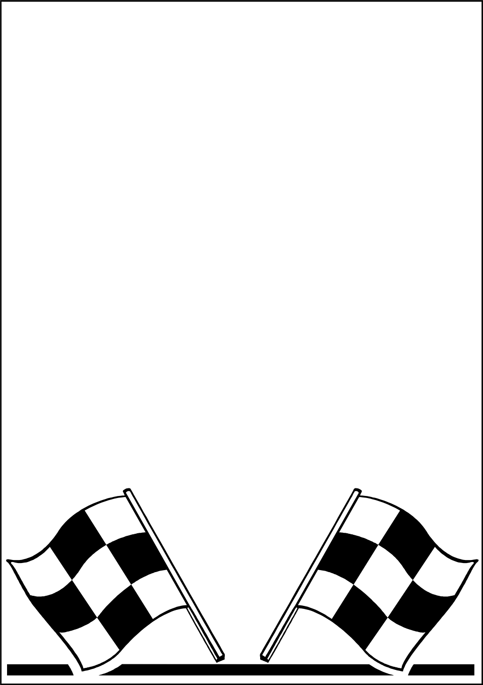 Illustration of a blank frame border with checkered flags : Free Stock Photo