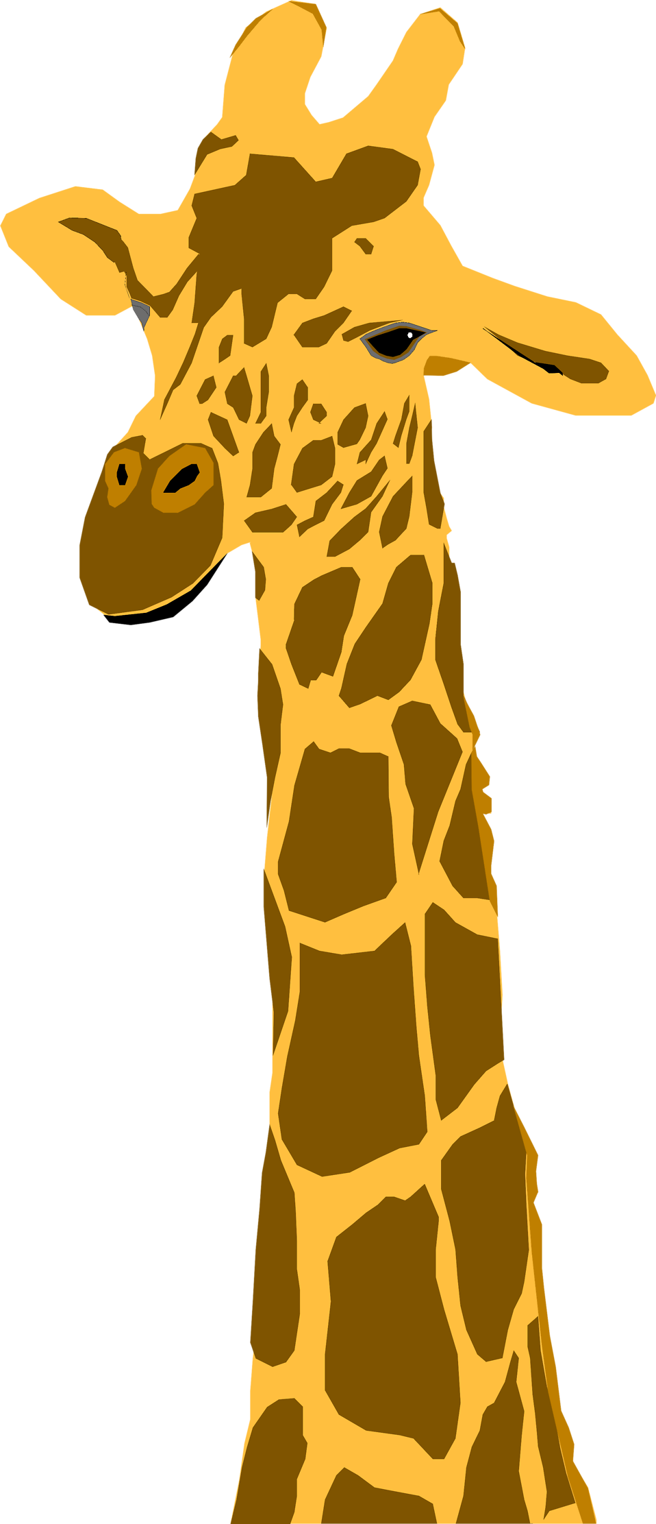 Illustration of a giraffe : Free Stock Photo