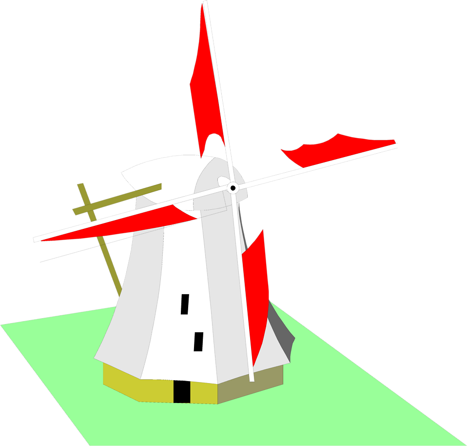 Illustration of a windmill : Free Stock Photo