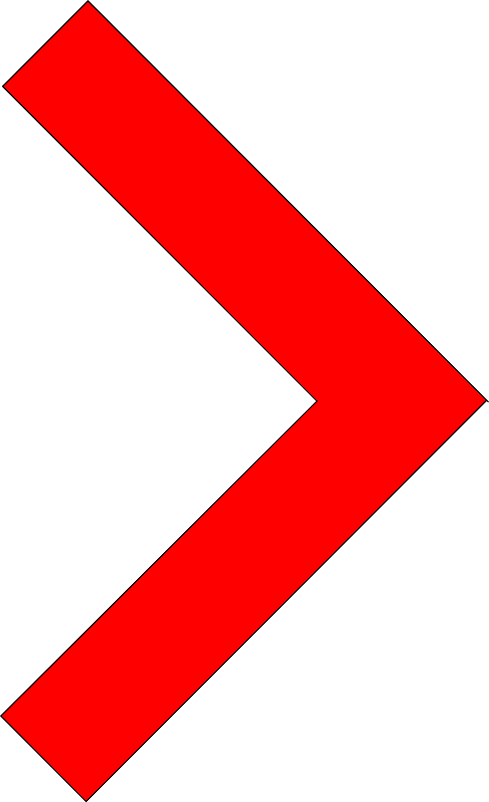 Illustration of a right facing red arrow : Free Stock Photo