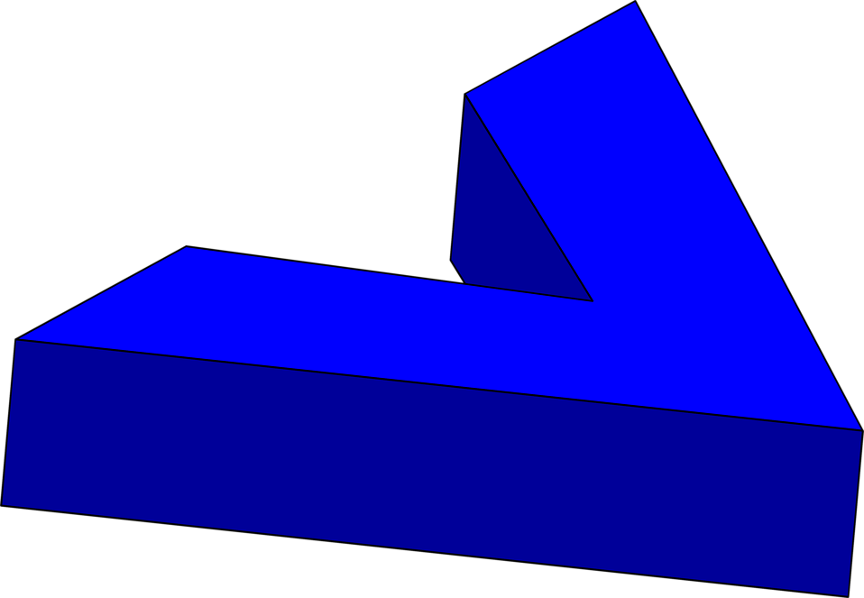 Illustration of a right facing blue 3d arrow : Free Stock Photo