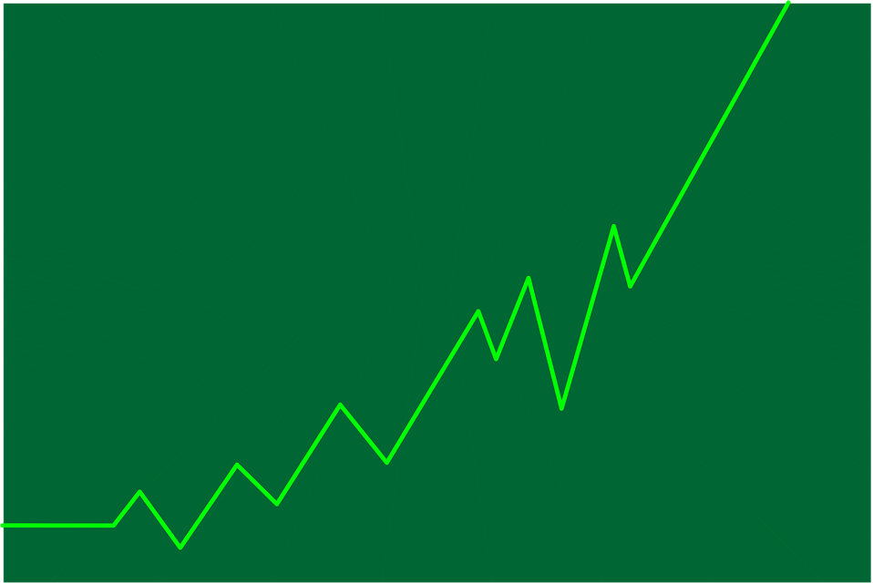 Illustration of a green graph going up : Free Stock Photo