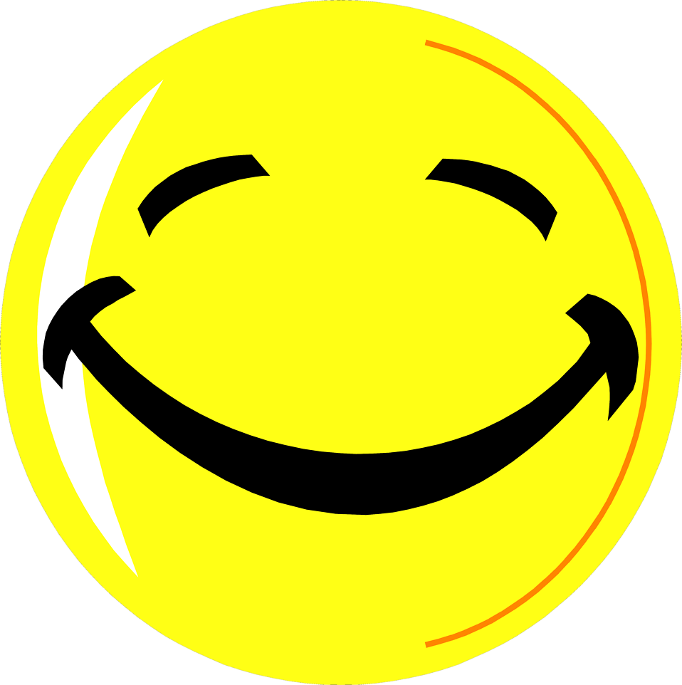 Free stock photo: illustration of a yellow smiley face