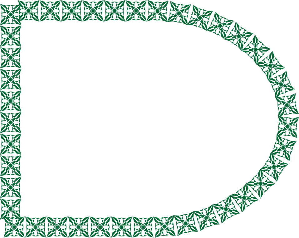 Illustration of a blank frame border of green shapes : Free Stock Photo